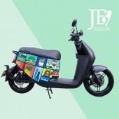 JB Design gogoro 防刮車套-繽紛台灣