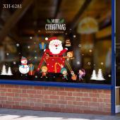 時尚壁貼-耶誕老人禮物 XH6281