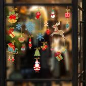 時尚壁貼-聖誕老人麋鹿吊飾 HM92047ds