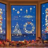 時尚壁貼-聖誕樹花圈 HM92054ds