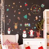 時尚壁貼-繽紛聖誕節 HM92033ds