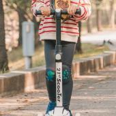 韓國 OZKIZ 護膝彈力緊身褲-鐵灰