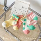 夏季女童襪(四入一組)1025夏日小花園