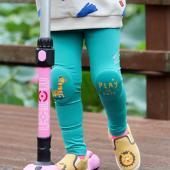 韓國 OZKIZ 護膝彈力緊身褲-薄荷綠