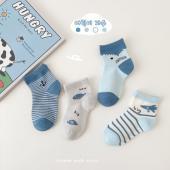 夏季男童襪(四入一組)-1037海底大冒險