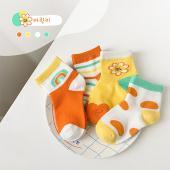 夏季女童襪(四入一組)1029彩虹太陽花.