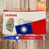 JB Design 刺繡國旗筆袋組-水果台灣