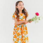 韓國ozkiz夏日洋裝O13O04G橘