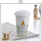 俄羅斯 克里姆林宮杯子+杯墊組合