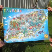 JB DESIGN-台灣文創布地圖-全臺灣島