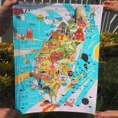 JB DESIGN-台灣文創布地圖-歡樂台灣島