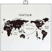 時尚壁貼~世界地圖