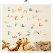 時尚壁貼~動物字母