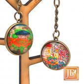 JB Design-文創玻璃鑰匙圈-台南安平