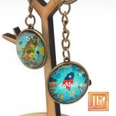 JB Design-文創玻璃鑰匙圈-歡樂台灣島