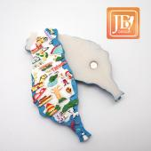 JB Design台灣波麗磁鐵-JB013-國旗台灣藍版