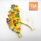JB Design台灣波麗磁鐵-JB014-歡樂台灣島