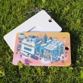 JB Design-票卡鑰匙圈-696_粉台灣文字