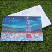 JB Design畫布明信片-160_台北夜晚