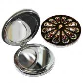 教會系列_PU隨身鏡(圓)_馬賽克玻璃